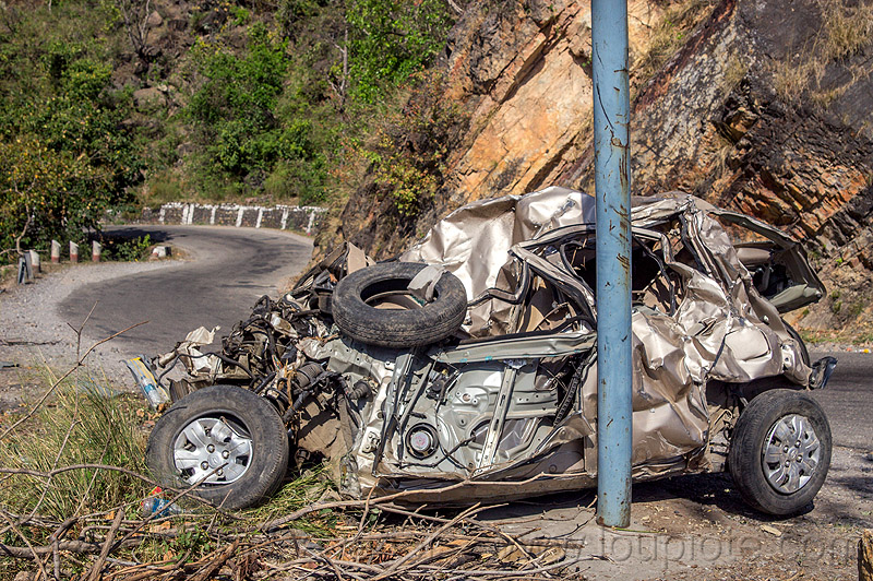 hyundai i10 crash - wrecked in fatal rollover accident (india), car accident, car crash, fatal, hyundai i10, india, road, rollover, traffic accident, wreck