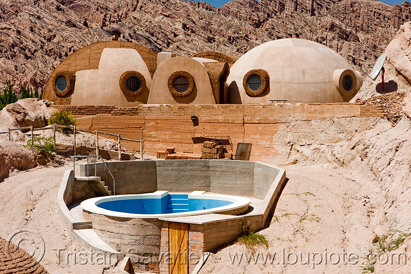igloo house, architecture, cachi, calchaquí valley, dome house, igloo house, modern, molinos, noroeste argentino, round house, swimming pool, valles calchaquíes
