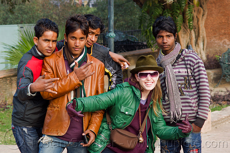 indian boys and white girl - lucknow (india), boys, bun bun, india, lucknow, men, woman