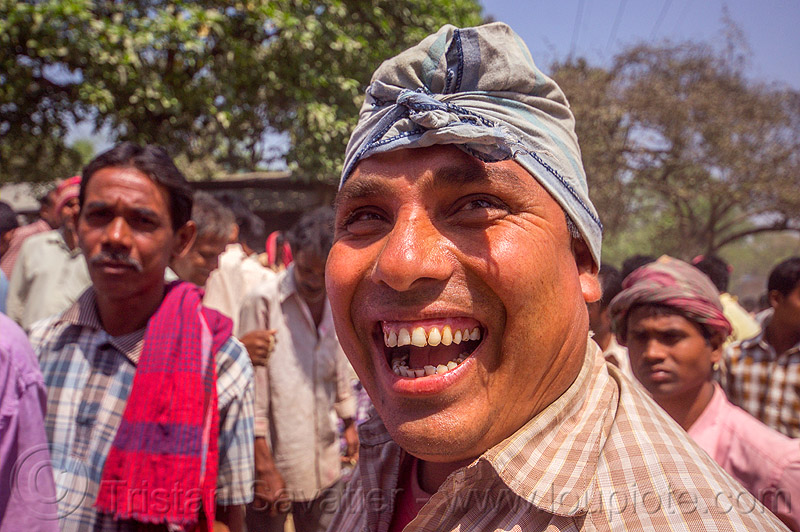 indian man with toothy smile (india), headdress, india, men, teeth, turban, west bengal