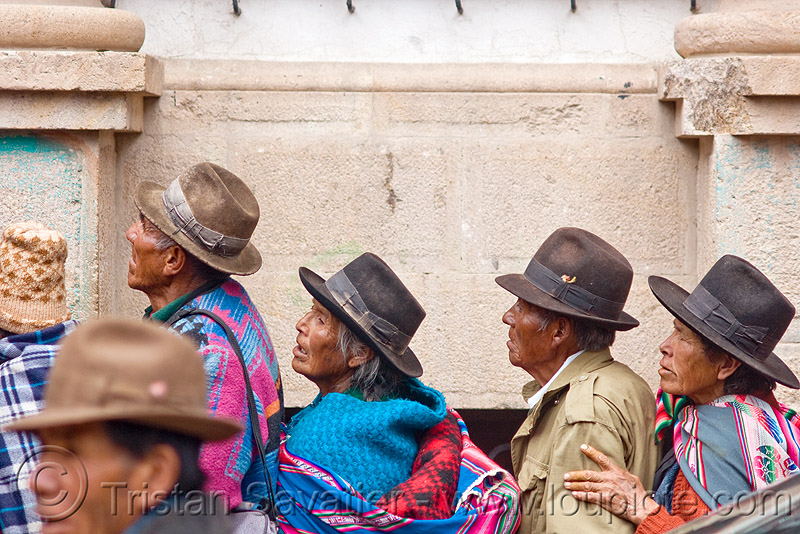 indigenous people (bolivia), bowler hats, hat, men, potosí, quechua