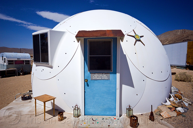 institute of geophysics and planetary physics dome - darwin, architecture, cabin, death valley, desert, ghost town, igpp