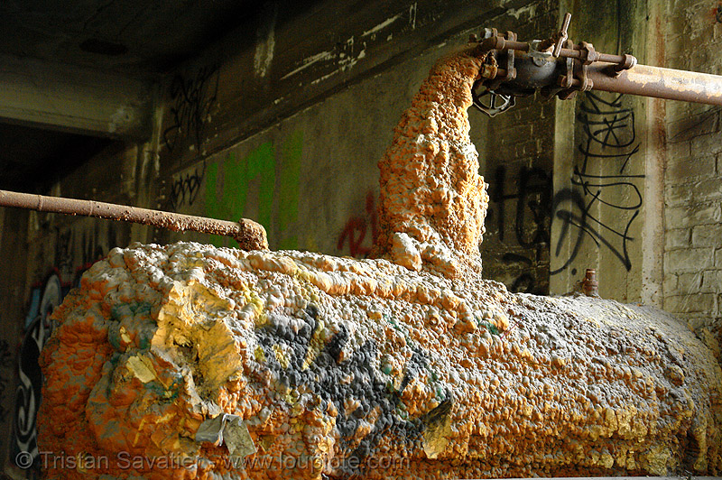 insulation foam, abandoned factory, derelict, foam, industrial tank, insulation, pipes, tie's warehouse, trespassing