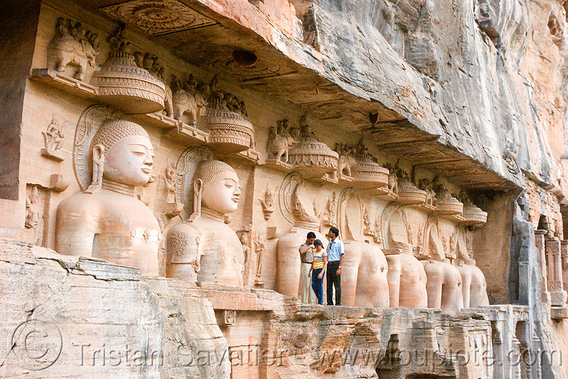 jain temple - gwalior (india), caves, gwalior, himanshu gupta, india, jain temple, jainism, rock-cut, sculptures, statue, tirthankaras
