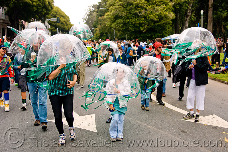 jellyfish costumes - bay to breaker footrace and street party (san francisco), bay to breakers, footrace, jellyfish costumes, street party, transparent umbrellas