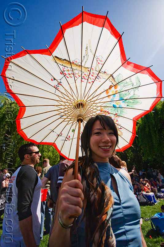 jen with japanese umbrella, japanese umbrella, jen, woman