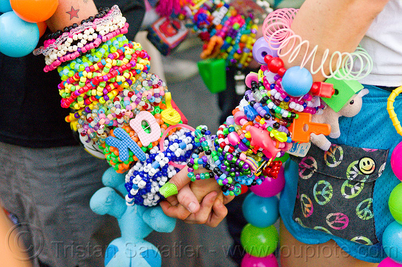 kandi bracelets - kandi ravers, arm, beads, clothing, fashion, gay pride festival, hand, kandi bracelets, kandi cuffs, kandi kid, kandi ravers, man, party, plur, raver, woman, wrists