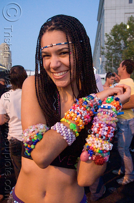kandi kid - erin, beads, braid, braided hair, clothing, fashion, festival, kandi bracelets, kandi cuffs, kandi kid, kandi raver, love fest, lovevolution, plur, raver outfits, woman