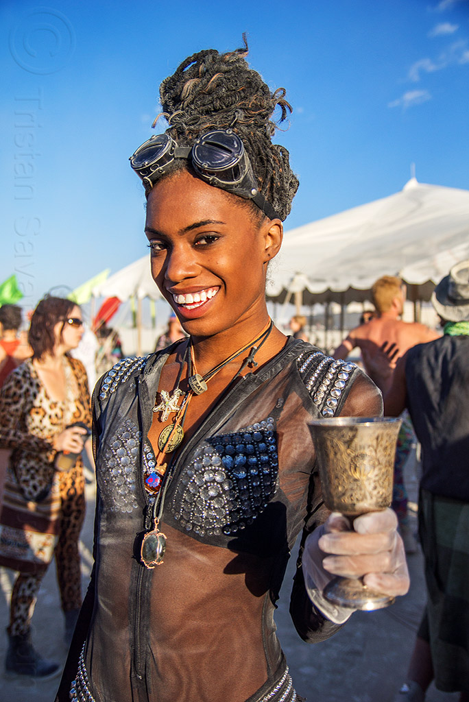 kayla - burning man 2016, burning man, metal cup, woman