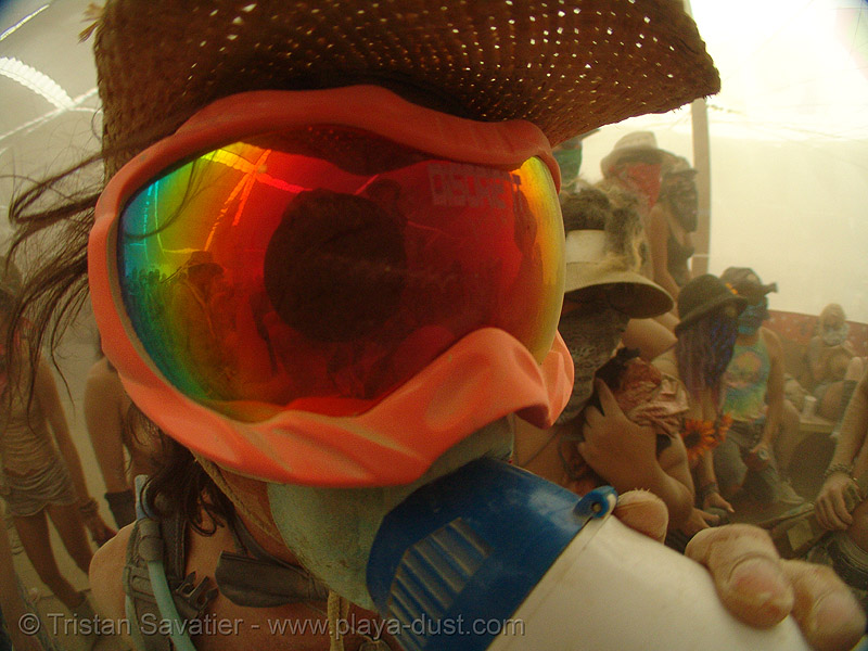 ken - burning man 2007, burning man, center camp, goggles, ken