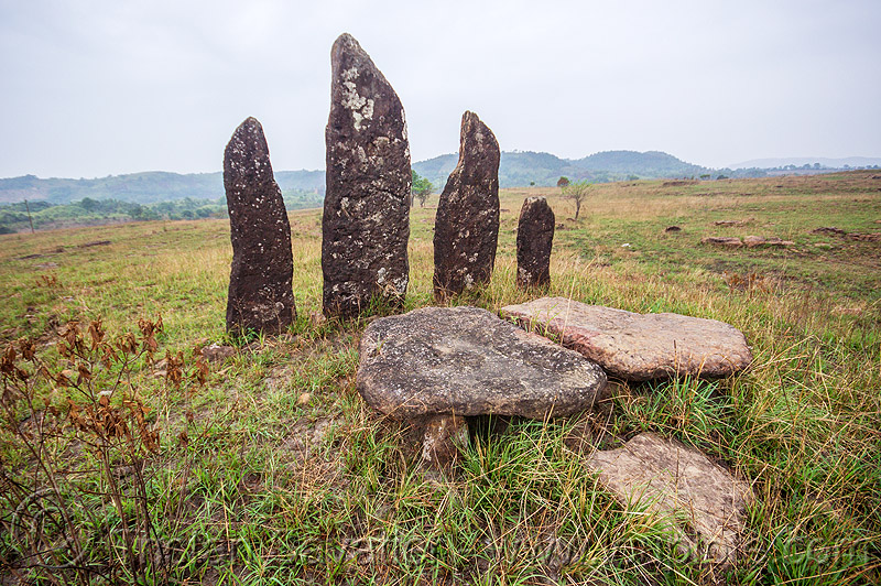 khasi menhirs and dolmens - memorial stones (india), archaeology, cenotaph, dolmens, east khasi hills, megaliths, meghalaya, memorial stones, menhirs, monoliths, standing stones, table-stones