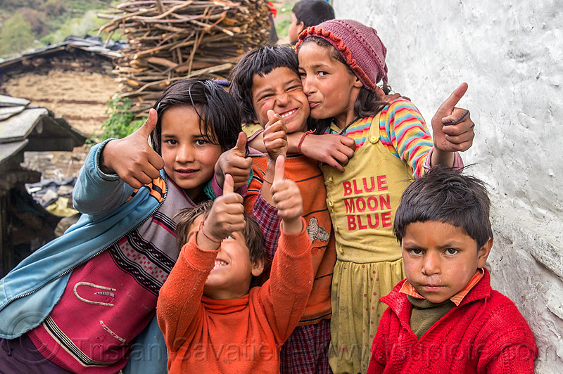 kids in himalayan village (india), blue moon blue, boys, children, girls, janki chatti, kids, knit cap, village