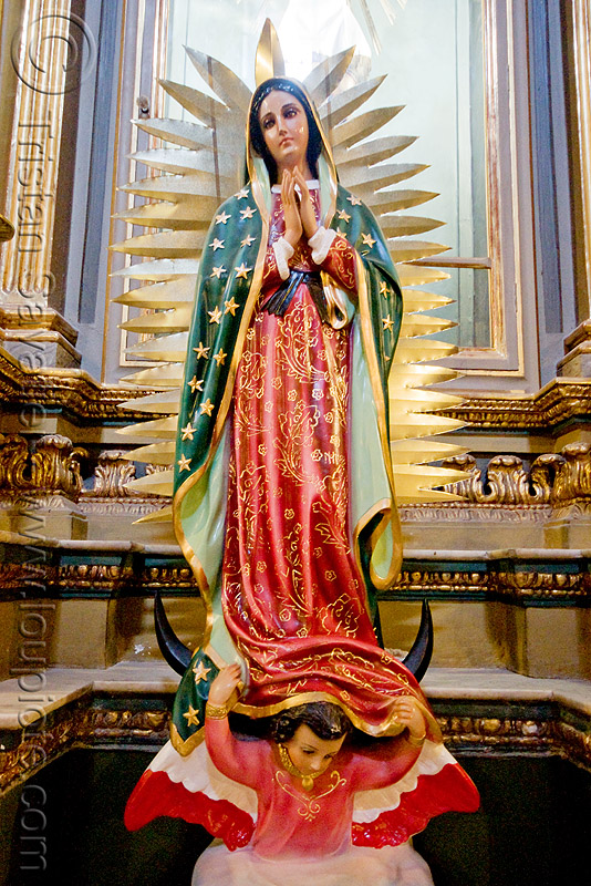 la virgen de guadalupe - san francisco church (salta, argentina), argentina, baroque, church, crescent, iglesia san francisco, madonna, moon, noroeste argentino, nuestra señora de guadalupe, our lady of guadalupe, red, sacred art, salta capital, sculpture, statue, virgen de guadalupe, virgin mary, virgin of guadalupe