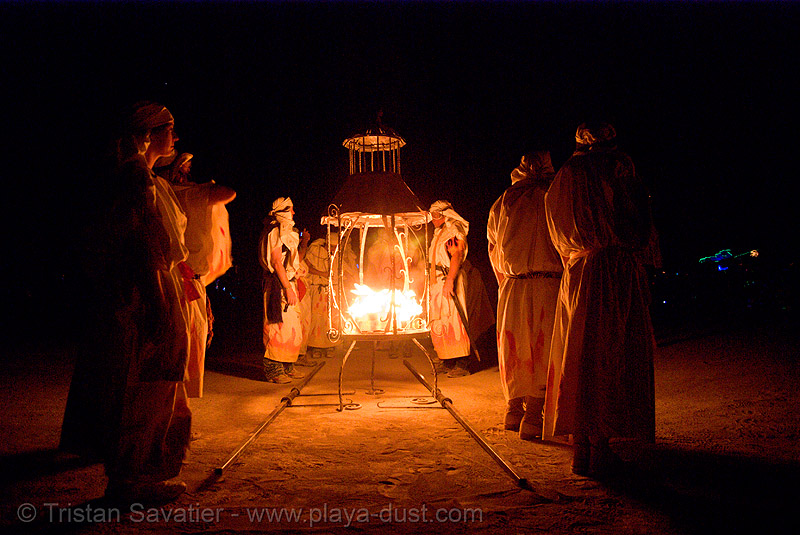 lamplighter's lantern - fire conclave - burning man 2007, burning man, fire conclave, lamplighters, lantern, night of the burn