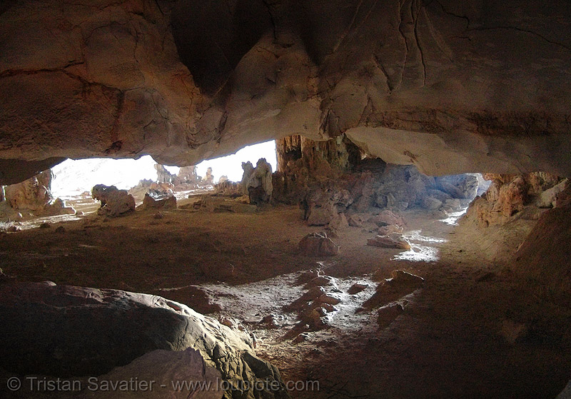 large cave on island near cat ba - vietnam, cat ba island, cave mouth, caving, cát bà, grotto, halong bay cave, islet, natural cave, spelunking, vietnam