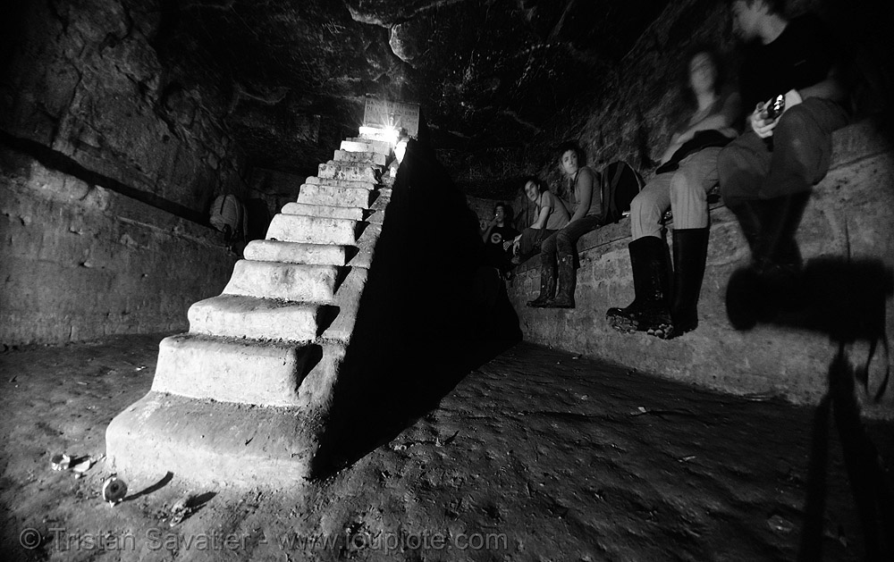 le cabinet minéralogique - catacombes de paris - catacombs of paris (off-limit area), cabinet mineralogique, cabinet minéralogique, catacombs of paris, cave, fisheye, trespassing, underground quarry