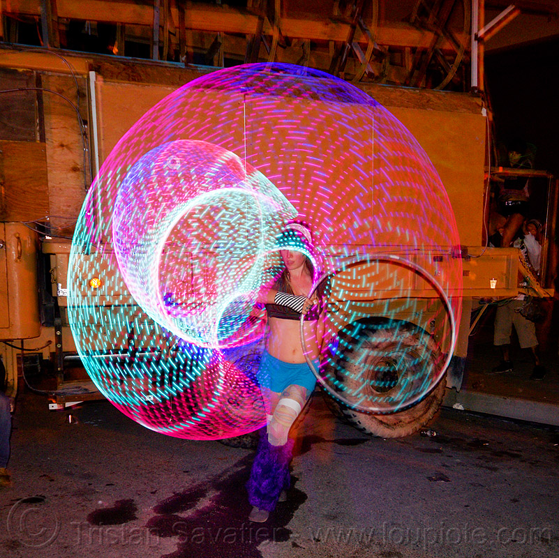 LED hoop - light painting, burning man decompression, chelsea, glowing, hooper, hooping, hulahoop, led hulahoop, led lights, led-light, light hoop, long exposure, night, people, woman