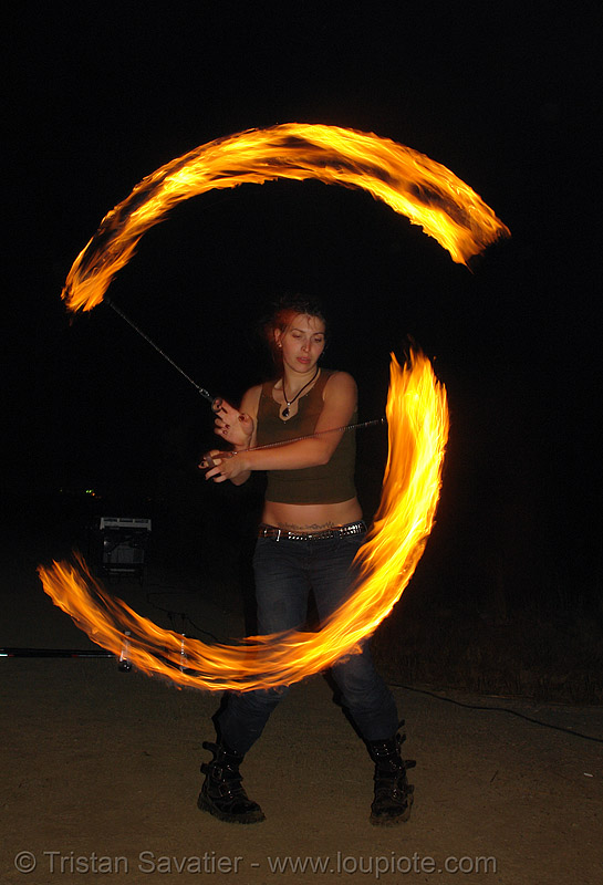 lexie spinning fire poi, fire dancer, fire dancing, fire performer, fire spinning, flames, long exposure, night, people