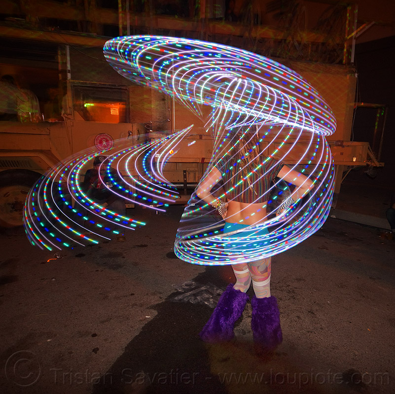 light painting with LED hoop, burning man decompression, chelsea, glowing, hooper, hooping, led hoop, led hulahoop, led lights, led-light, light hoop, long exposure, night, woman