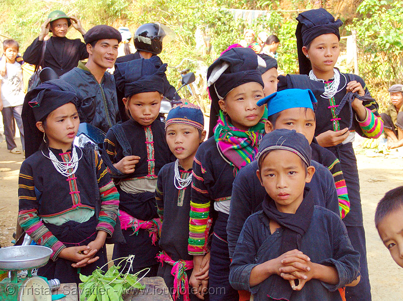 """lo lo den"" tribe kids - vietnam, black lo lo tribe, children, girls, hill tribes, indigenous, kids, little girl, lo lo den tribe, tribe girl"