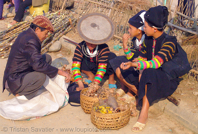 """lo lo den"" tribe women - vietnam, asian woman, asian women, black lo lo tribe, bảo lạc, girls, hill tribes, indigenous, lo lo den tribe"