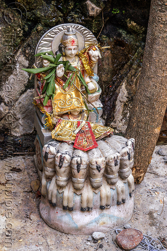 lord surya with seven horses (india), deity, hinduism, sculpture, status, yamunotri