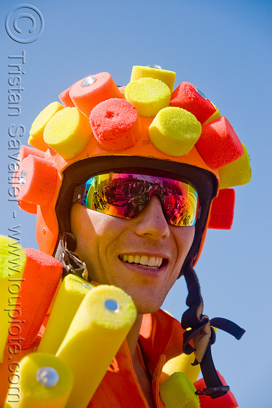 lovevolution - lovefest (san francisco), billy babcock, helmet, lovevolution, man, orange, sunglasses, yellow