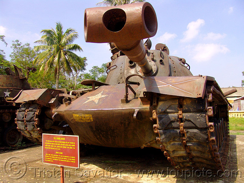 M48 patton - vietnam war, american, army tank, hué, m48 tank, m48a3 tank, military, museum, patton tank, rusted, rusty, vietnam war
