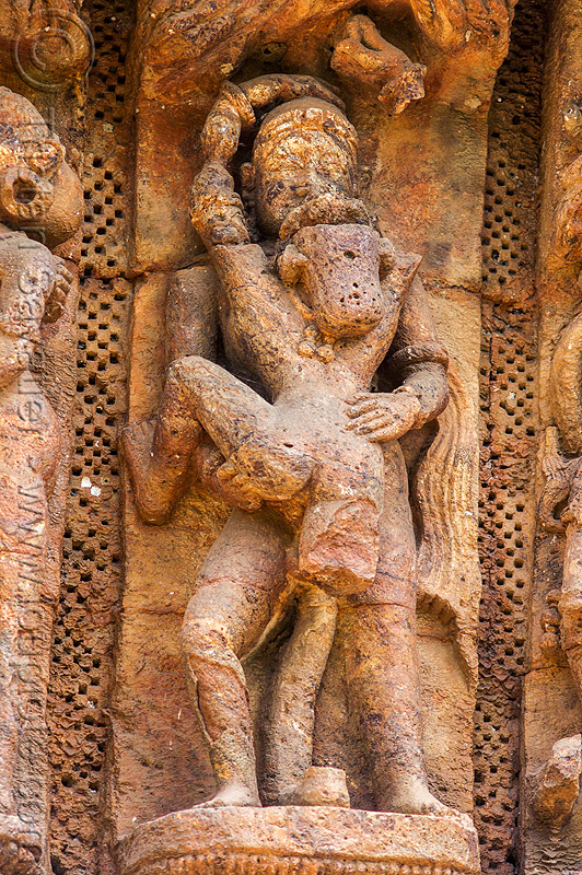 maithuna - hindu erotic carving - konark sun temple (india), carving, erotic sculptures, high-relief, hindu temple, hinduism, konark sun temple, maithuna, stone