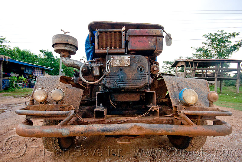 makeshift truck, country, diesel, engine, farmer truck, front, lorry, makeshift, road