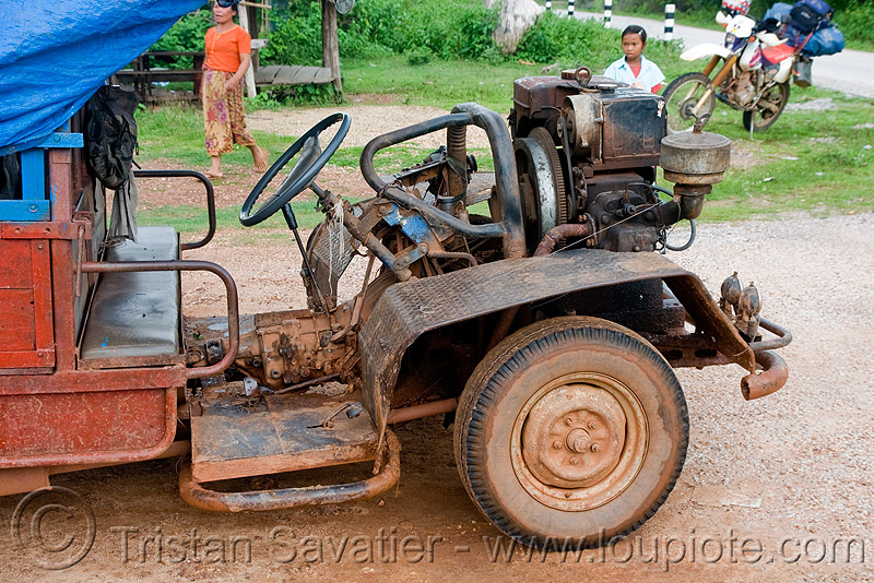 makeshift truck, country, diesel, engine, farmer truck, lorry, makeshift, road