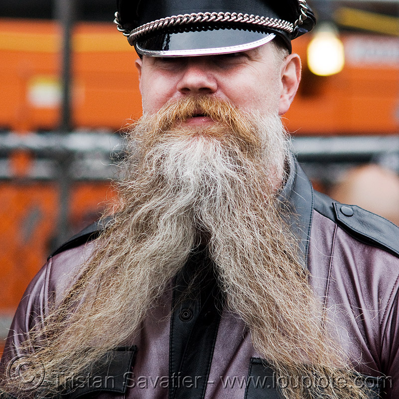 forked beard, dore alley fair, leather, man, people