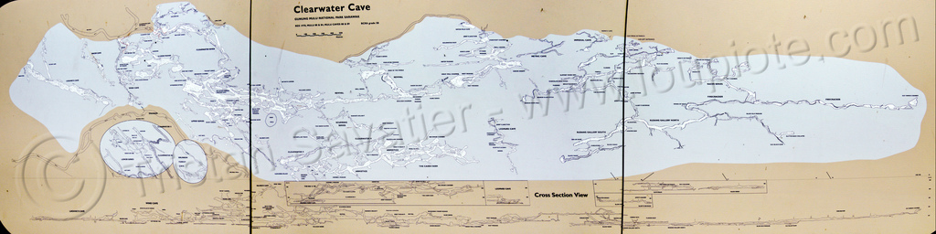 map of the clearwater cave system - mulu (borneo), cave map, caving, clearwater cave system, clearwater connection, gunung mulu national park, lang cave, natural cave, racer cave, spelunking