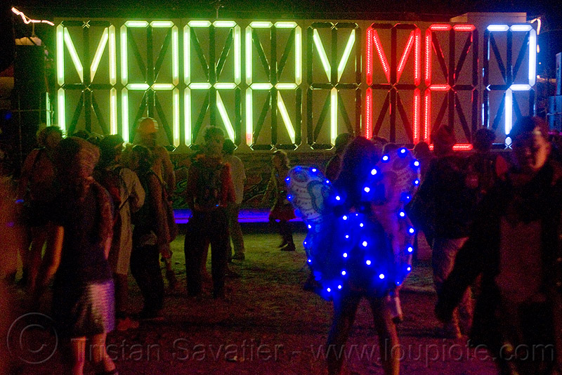 marry me?, art car, burning man, butterfly costume, ghetto gypsy, glowing, neons, night