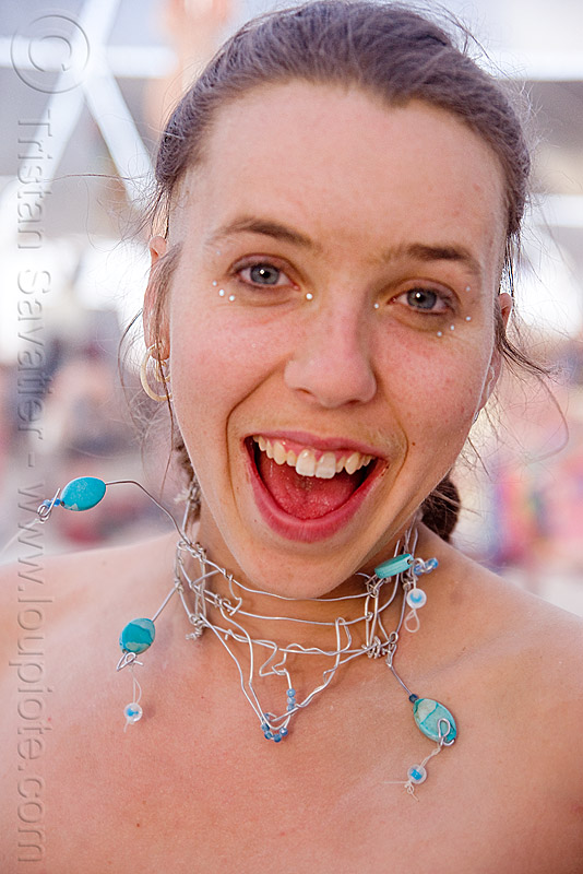 mary - burning man 2009, necklace, people, woman