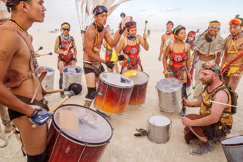 mazu marching band - burning man 2016, brazilian drums, burning man, drummers, marching band, mazu camp, samba reggae