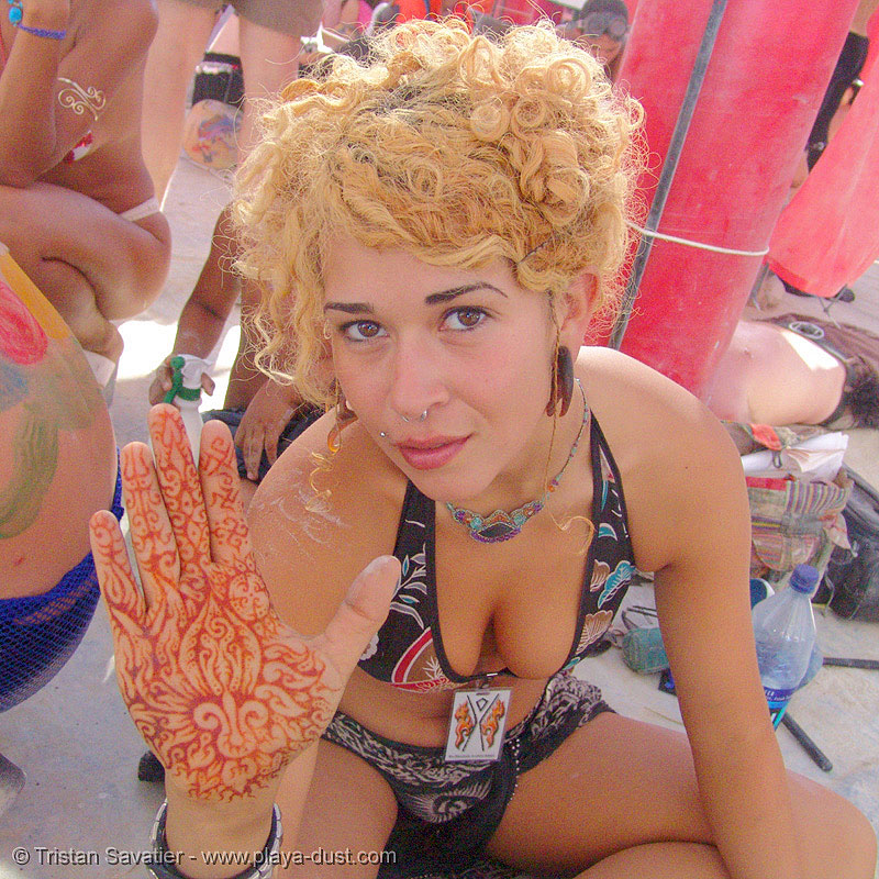 mehndi hand - wing ding - burning-man 2005, body art, burning man, hand palm, henna tattoo, mehndi designs, skin, temporary tattoo, woman