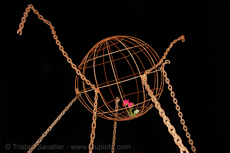 sculpture, ames, art, chains, field, moffett, moffett field, nasa, nasa ames research center, rose, sphere, yurisnight
