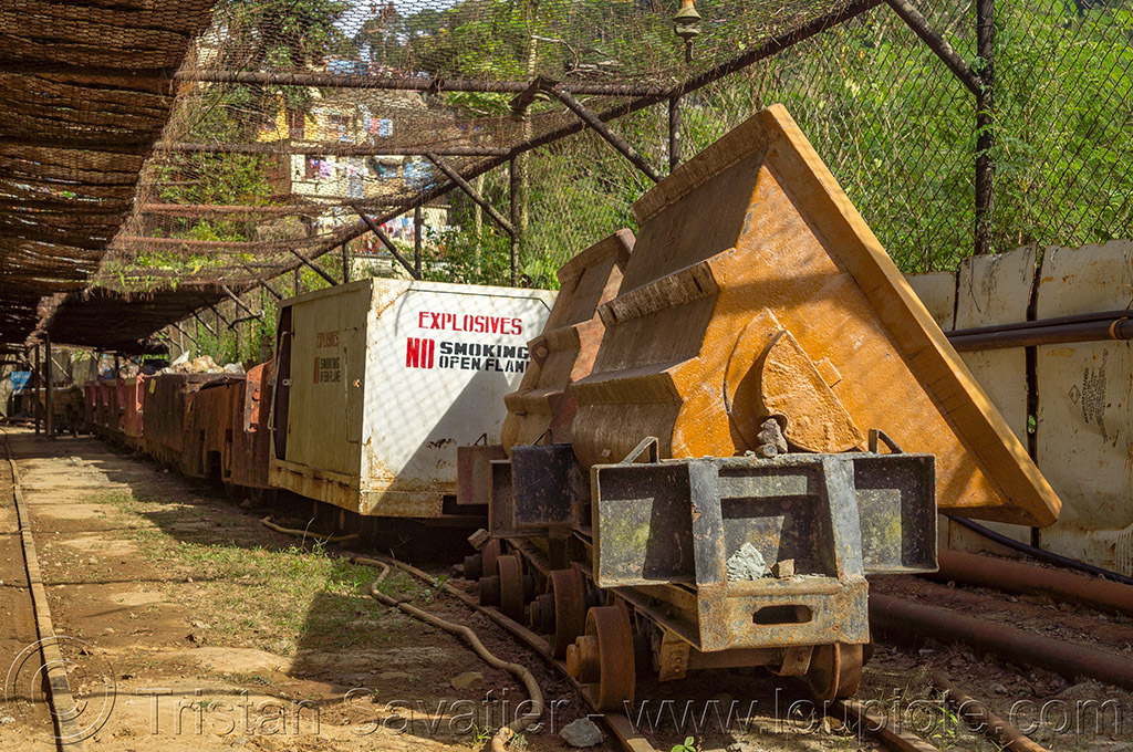 mine trolleys - balatoc mines (philippines), balatoc mines, gold mine, mancart, mine railway, mine train, mine trolley, philippines