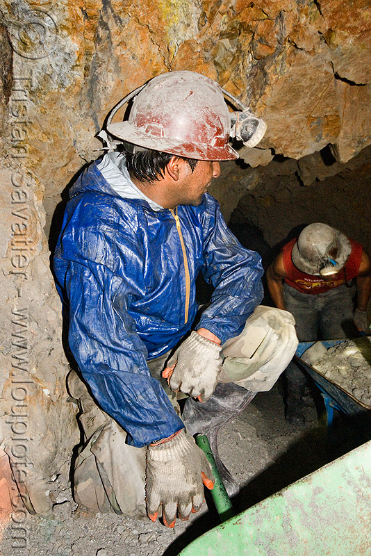 miners - potosi (bolivia), candelaria, cerro rico, man, mina, mina candelaria, mine, mine worker, miner, mining, people, potosí, safety helmet, tunnel, working