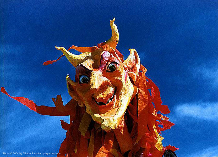 mona diable - burning-man, art, burning man, giantpuppet, mona, puppet, the devil
