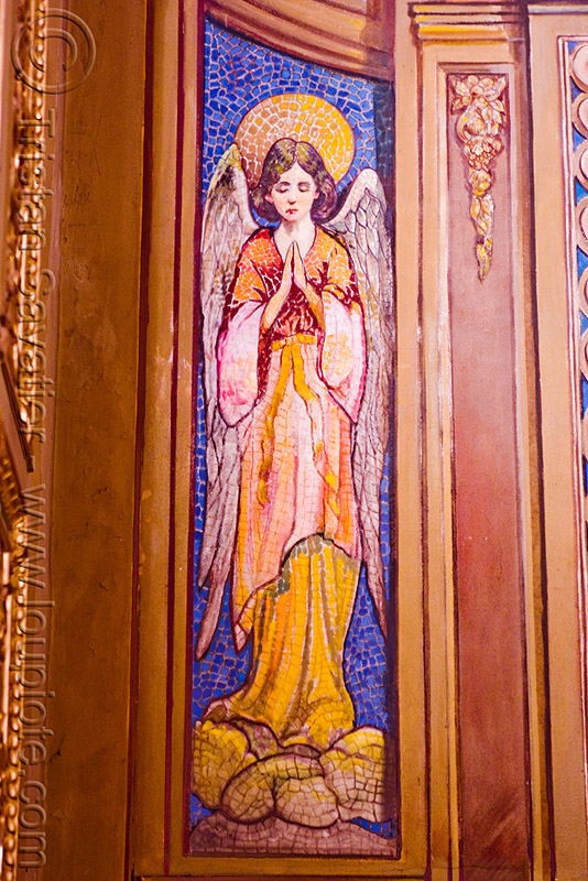 mosaic of an angel - cathedral (Córdoba, argentina), angel, cathedral, church, cordoba capital, córdoba capital, mosaic, noroeste argentino, praying, sacred art, wings