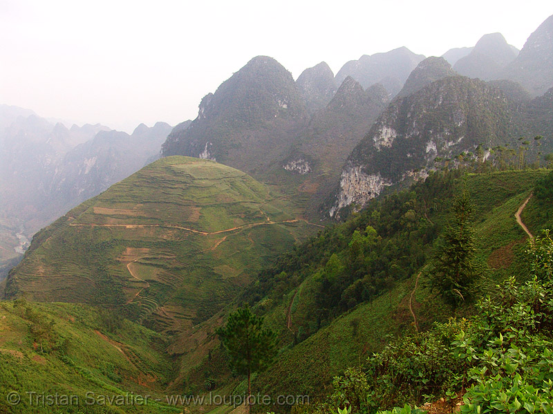 mountain karstic landscape (vietnam), mountains, nho que, nho qué, river, vietnam