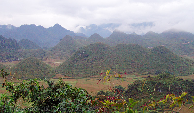 mountain landscape near Tám Sơn - vietnam, hills, karstic, mountains, tam son, tám sơn