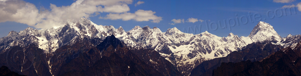 mountains panorama in the indian himalayas, india, mountains, panorama, snow