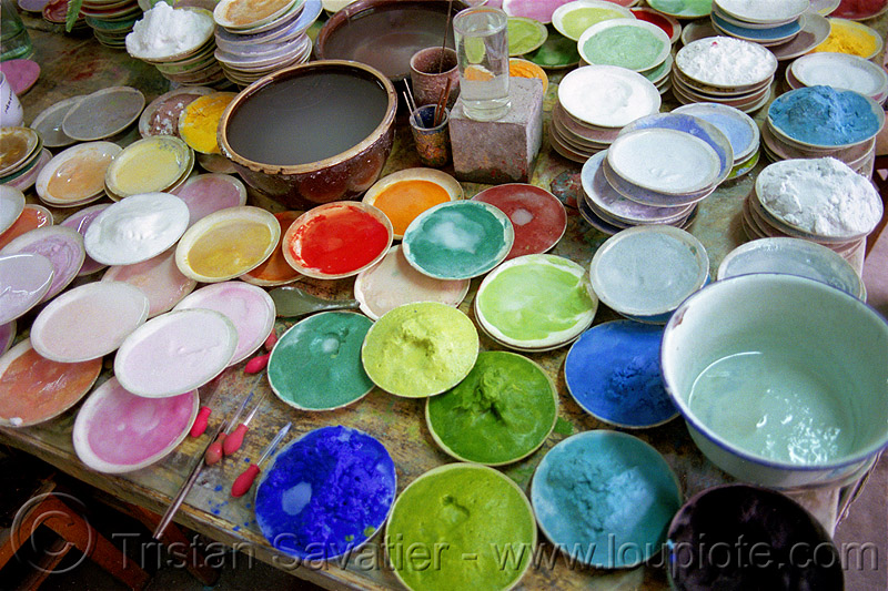 pigments, ceramic, china, coloring, dyes, enamel, pigments, plates