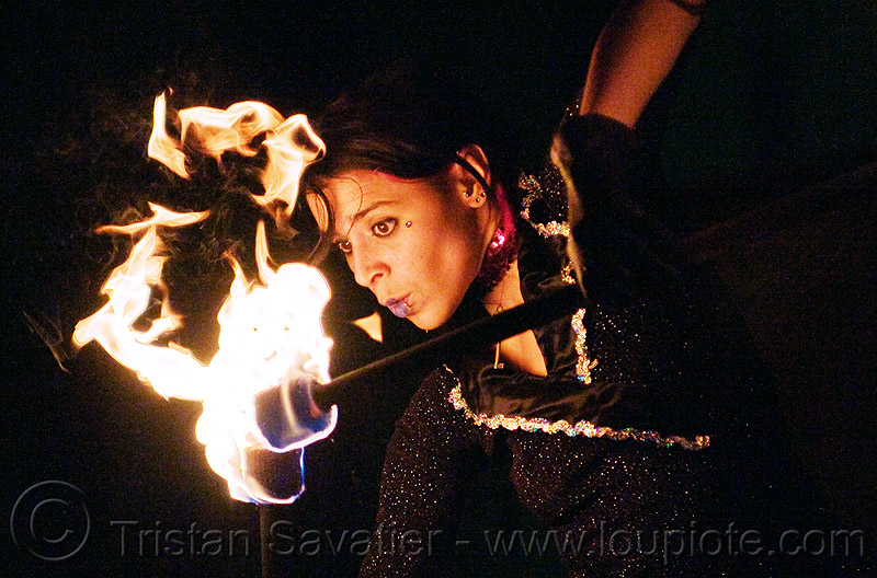 mumu spinning fire staffs, fire dancer, fire dancing, fire performer, fire spinning, fire staves, flames, night, people, woman