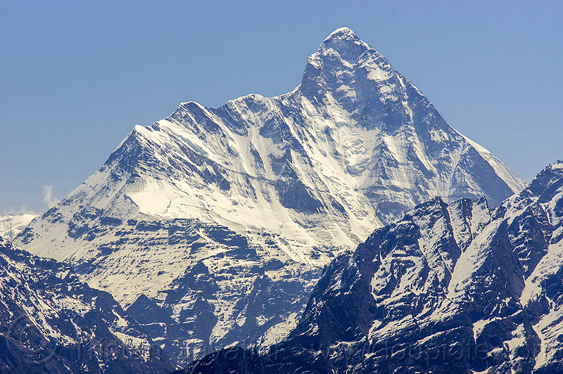 nanda devi summit (india), mountains, peak