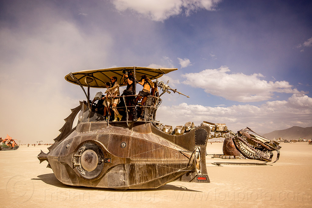 nautilus - burning man 2015, art, art car, art installation, art ship, boat, nautilus submarine, nautilus submarine art car, sculpture, serpent mother, snake