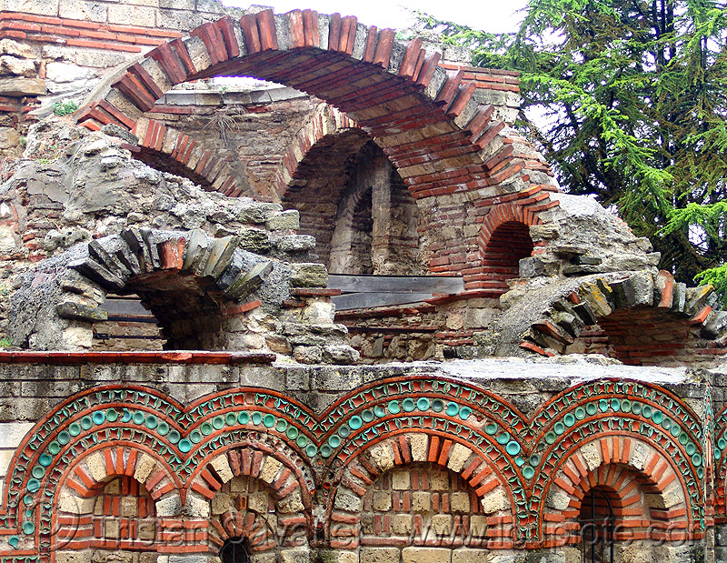nesebar church ruin - Несебър (bulgaria), architecture, brick, church, nesebar, nessebar, orthodox christian, religion, ruins, stone, vault, българия, несебър